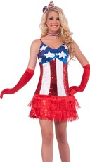 Stars and Stripes Lady America Costume
