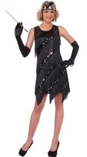 Midnight Shimmy-Shaker Flapper Costume