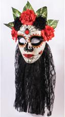 Black Senora Day of the Dead Mask