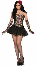 Day of the Dead Corset Dress Costume
