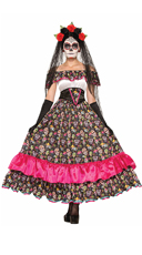Spanish Lady Day Of Dead Costume