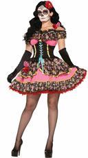 Day Of Dead Sexy Senorita Costume