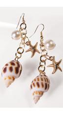 Mermaid Sea Shell Earrings