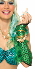 Green Mermaid Fish Scale Arm Sleeves