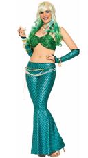 Green and Blue Mermaid Costume Set
