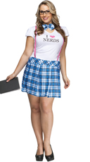 Plus Size I Love Nerds Costume
