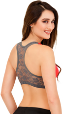 Push Up Sports Bra with Lacy Backside