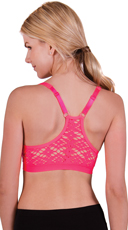 Pink Aztec Lace Back Sports Bra