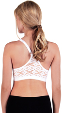 White Aztec Lace Back Sports Bra