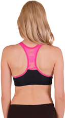 Wire Free Lace Back Sports Bra