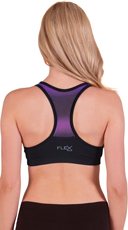 Push-Up Racer Back Ombre Sports Bra