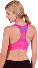 Pink Push-Up Racer Back Ombre Sports Bra
