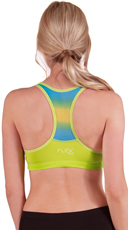 Neon Green Push-Up Racer Back Ombre Sports Bra