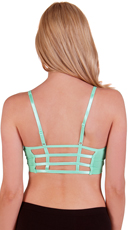 Seafoam Caged Back Sports Bra