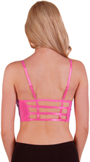 Hot Pink Caged Back Sports Bra