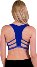 Royal Blue Caged T-Back Sports Bra