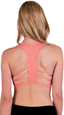 Coral Caged T-Back Sports Bra