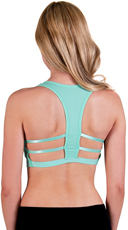 Seafoam Caged T-Back Sports Bra