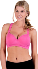 Pink Underwire Push Up Sports Bra