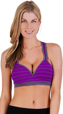 Striped Underwire Sports Bra