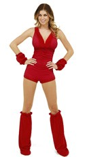 Furry Red Romper