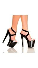Diamond Girl Black Strappy Platform Sandal
