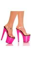 7 Inch UV Reactive Neon Platform Sandal