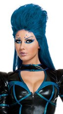 Blue Galactic Wig