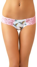 Lacy Love Scented Hummingbird Print Panty