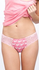 Cherry Scented Pink and Lace Unicorn Panty