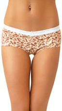 Chocolate Scented Cotton Boyshorts with Candy Bar Print
