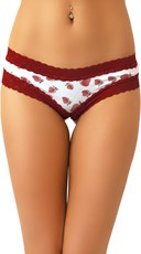 Cheeky Strawberry Scented Panty with Strawberry Print