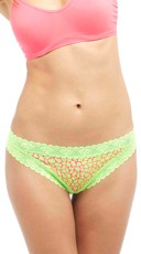 Cherry Scented Neon Lace Giraffe Cheeky Panty