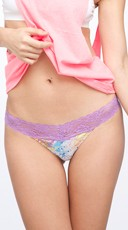 Paint Splash Lace Thong with Pineapple Fragrance