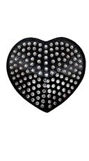 Black Heart Rhinestone Pasties