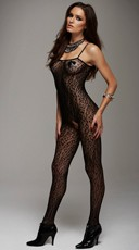 Leopard Print Bodystocking