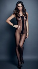 Vertical Stripe Bodystocking
