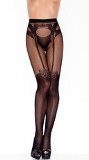 Garter And Panty Silhouette Pantyhose