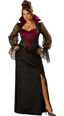 Plus Size Midnight Vampiress Costume