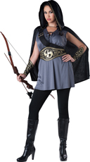 Plus Size Woodland Huntress Costume