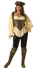 Plus Size Deluxe Rustic Pirate Lady Costume
