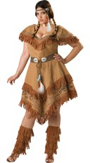 Plus Size Deluxe Indian Costume