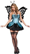 Deluxe Beautiful Blue Butterfly Costume