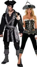Deluxe Plundering Pirates Couples Costume