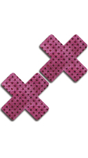 Pink and Black Dot Cross Pasties