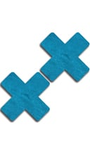 Solid Teal Cross Pasties
