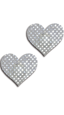 Silver Dot Heart Pasties