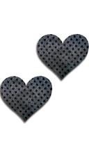 Black Dot Heart Pasties