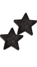 Black Glitter Star Pasties