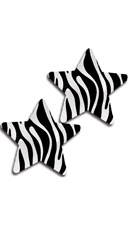 Zebra Stripe Star Pasties